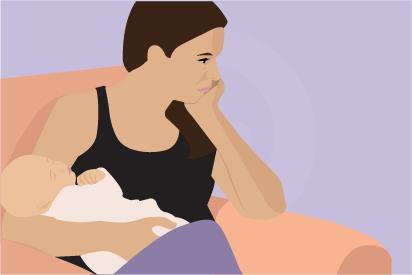 Depresi pascapersalinan berbeda dengan fenomena baby blues yang hanya berlangsung selama beberapa minggu.