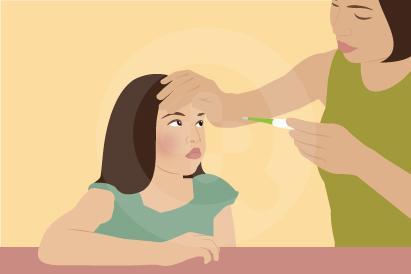 Demam ditandai dengan peningkatan suhu tubuh dan dapat disertai meriang, menggigil, atau sakit kepala