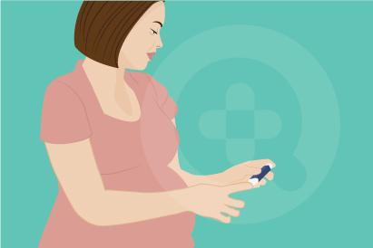 Diabetes gestasional dapat terjadi masa kehamilan karena tubuh akan memproduksi lebih banyak hormon hPL yang menyebabkan resistensi insulin.