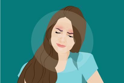 Nyeri di alis mata dapat terasa tajam atau intens akibat bagian belakang alis terdapat gangguan