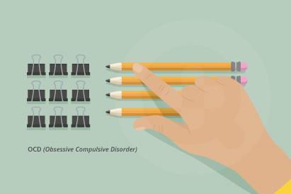 OCD atau obsessive compulsive disorder memunculkan obsesi dalam diri penderita yang membuat penderita melakukan tindakan-tindakan yang kompulsif