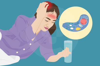 Toksoplasmosis menimbulkan gejala berupa demam, sakit kepala, atau kejang