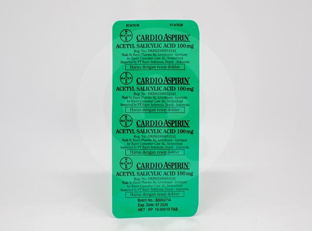 Cardio Aspirin Tablet 100 Mg Manfaat Dan Indikasi Obat Dosis Efek Samping