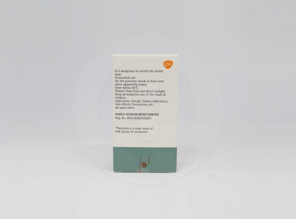Ventolin Inhaler 200 Dosis Manfaat Dan Indikasi Obat Dosis Efek Samping