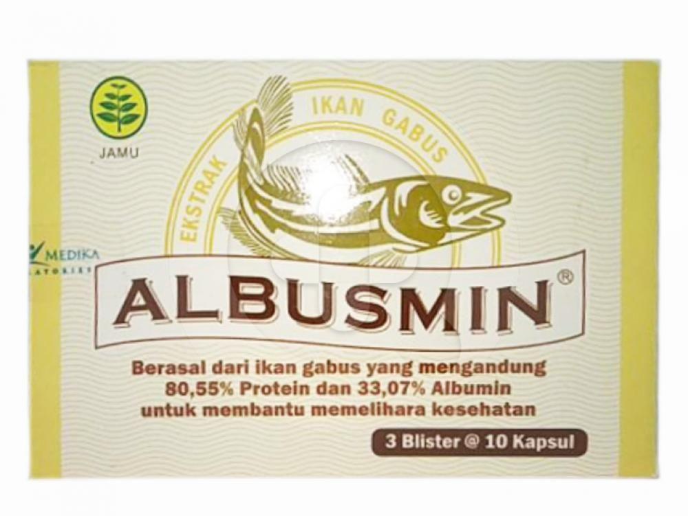 Albusmin kapsul digunakan untuk membantu memelihara kesehatan.