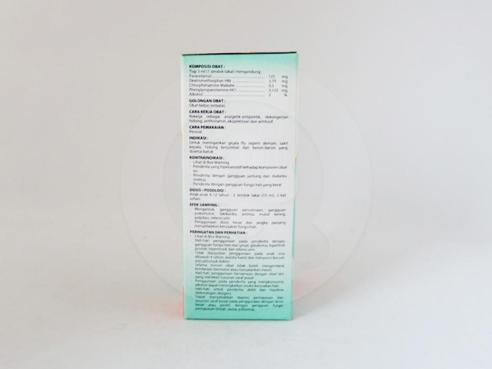 Alpara sirup 60 ml obat untuk meringankan gejala flu, demam, dan bersin-bersin yang disertai batuk.