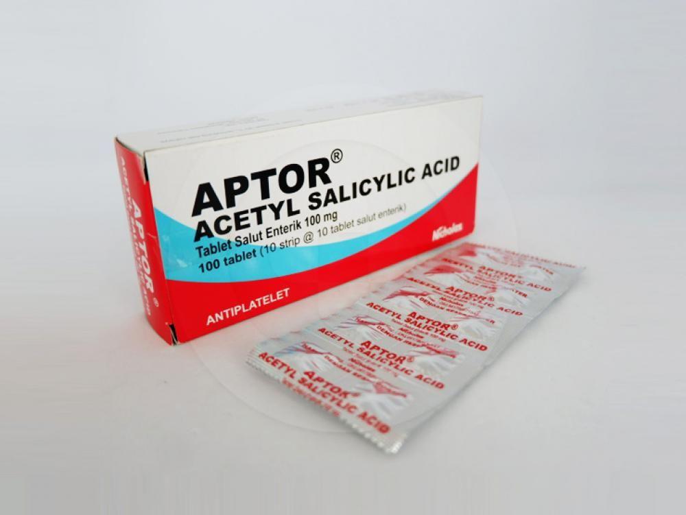 Aptor tablet 100 mg adalah obat pengencer darah.