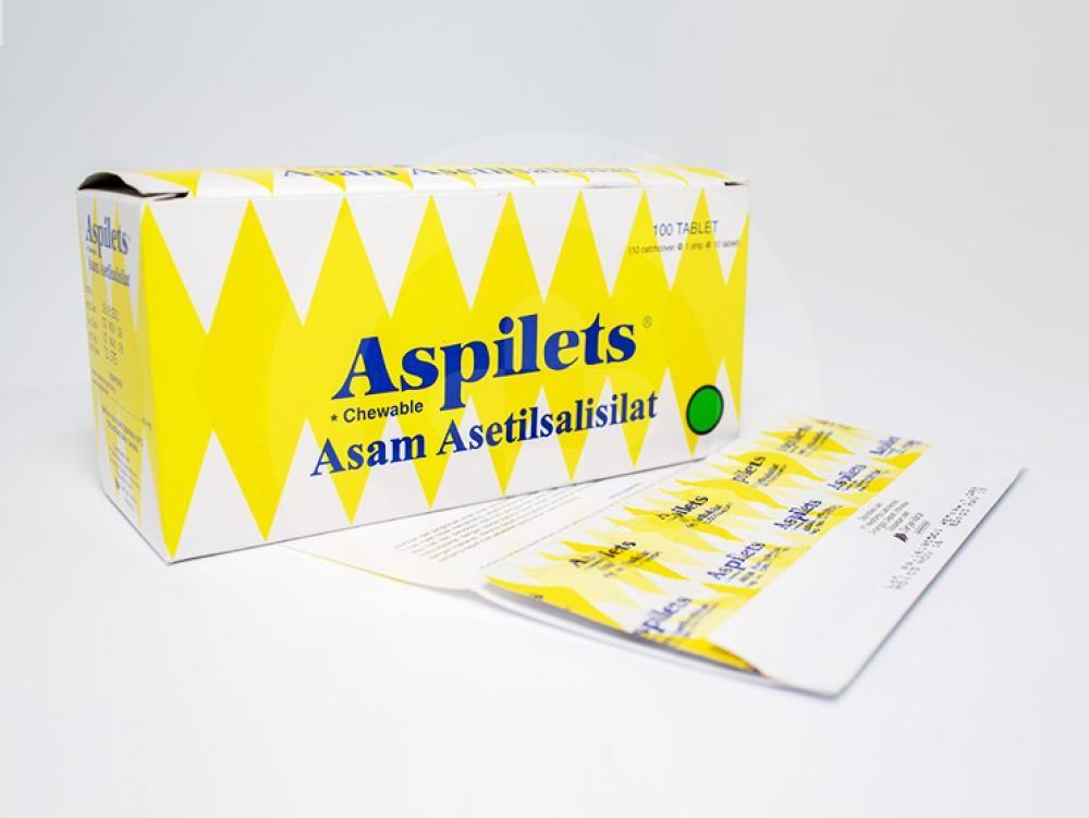 Aspilets adalah obat untuk menurunkan demam, meringankan sakit kepala, sakit gigi dan nyeri otot