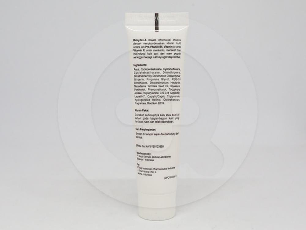 Babydex-A krim adalah obat untuk membantu merawat dan melindungi ruam kulit pada bayi