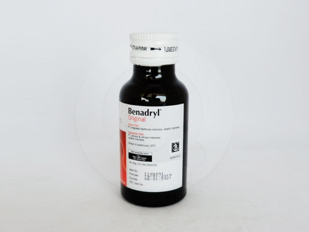 Benadryl adalah obat untuk meredakan batuk dan gejala lain yang timbul pada saluran pernapasan atas.