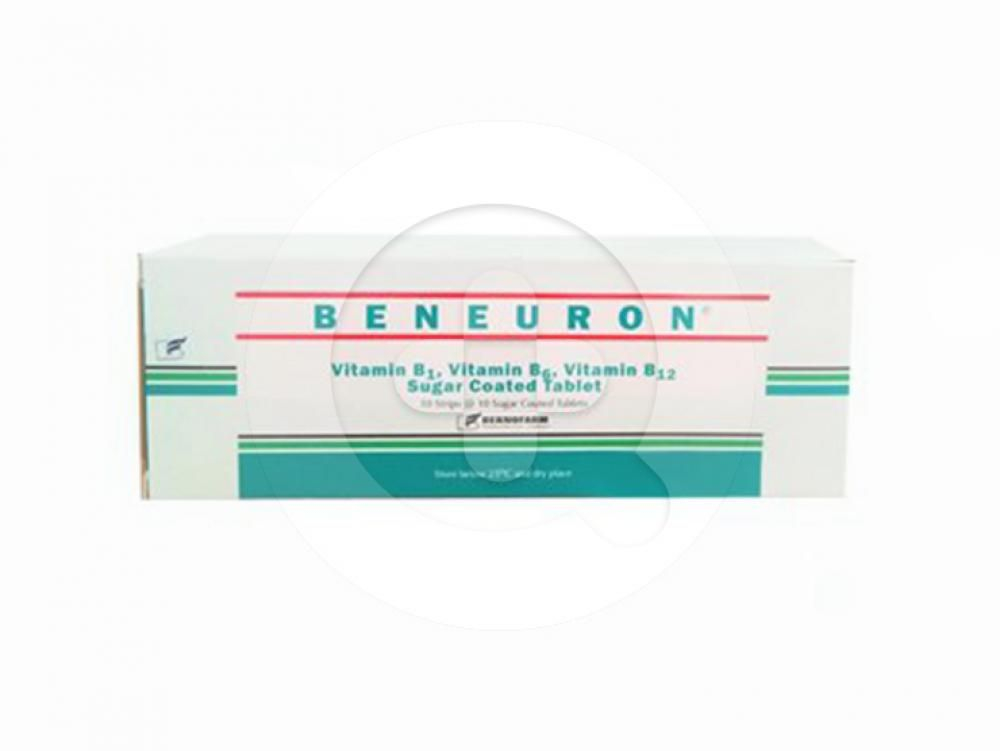 Beneuron tablet adalah adalah obat untuk mengatasi kekurangan vitamin B1, vitamin B6, dan vitamin B12.