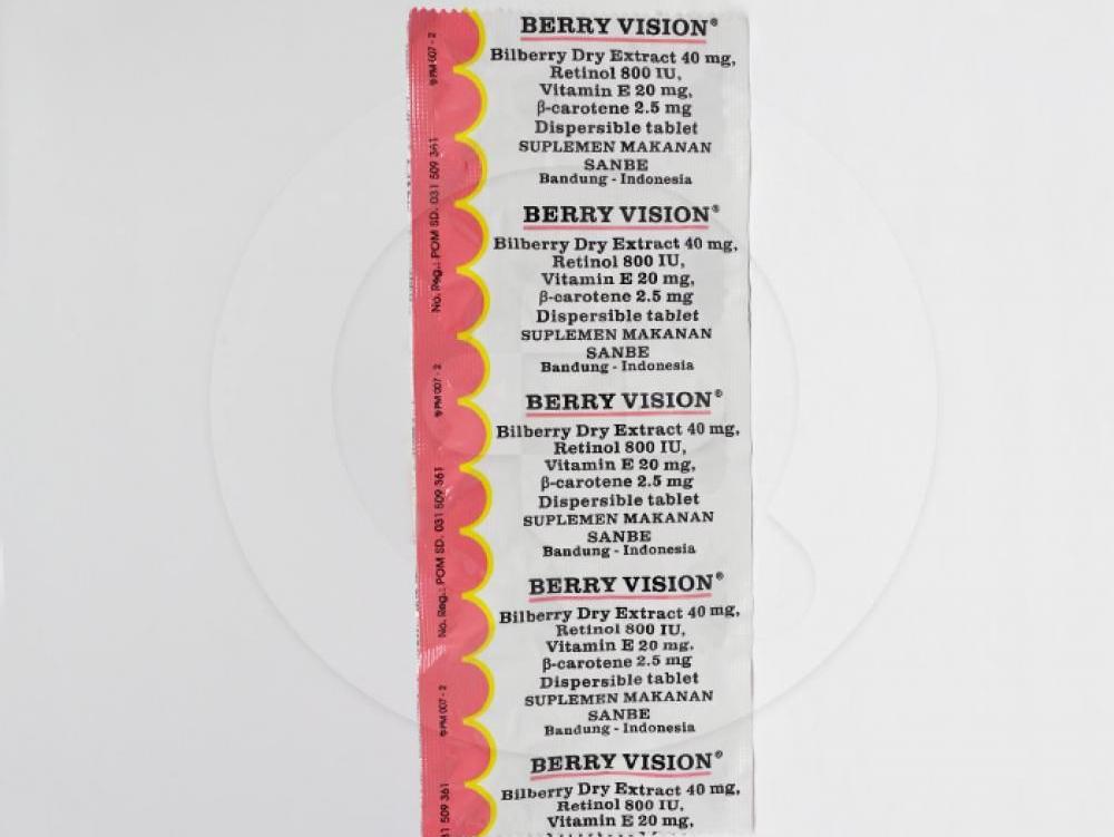 Berry Vision adalah suplemen makanan untuk membantu memelihara kesehatan mata