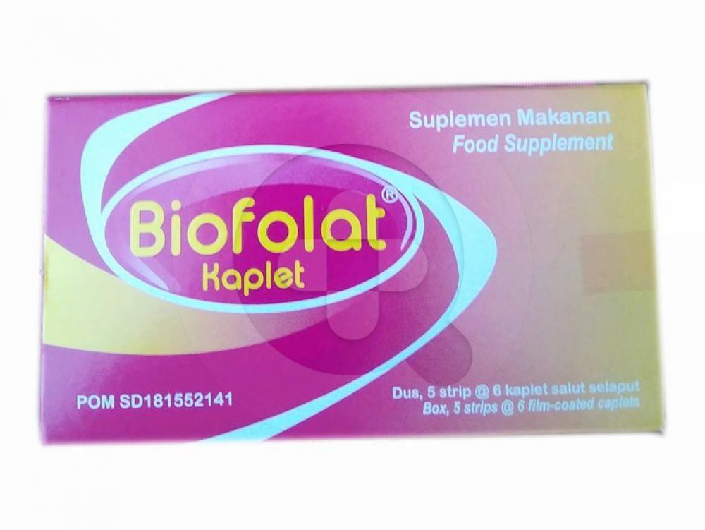 Biofolat kaplet merupakan suplemen untuk membantu meringankan mual dan muntah.