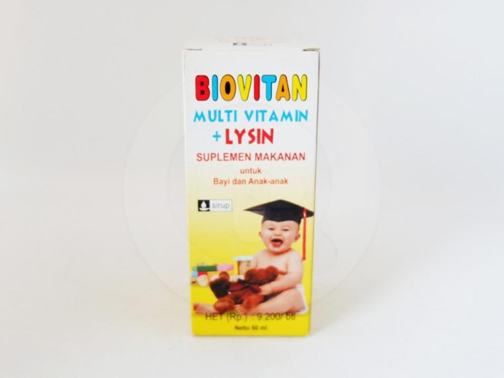 Biovitan sirup 60 ml obat untuk membantu memenuhi kebutuhan vitamin untuk anak-anak.