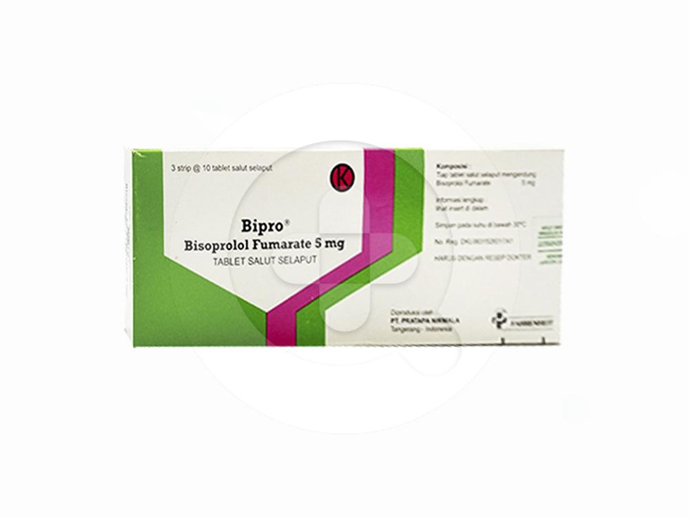 Bipro tablet adalah obat untuk menurunkan tekanan darah tinggi, nyeri dada, dan gagal jantung.