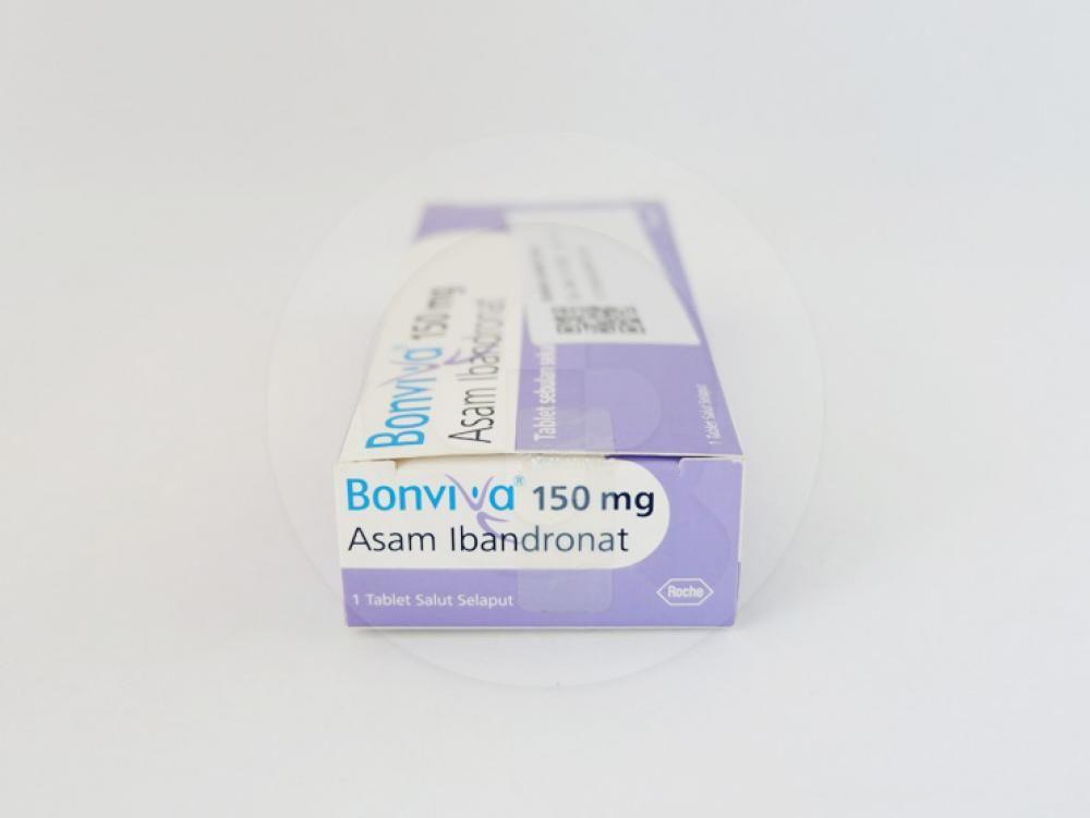 Bonviva tablet 150 mg untuk pengobatan osteoporosis untuk wanita yanng telah menopause.
