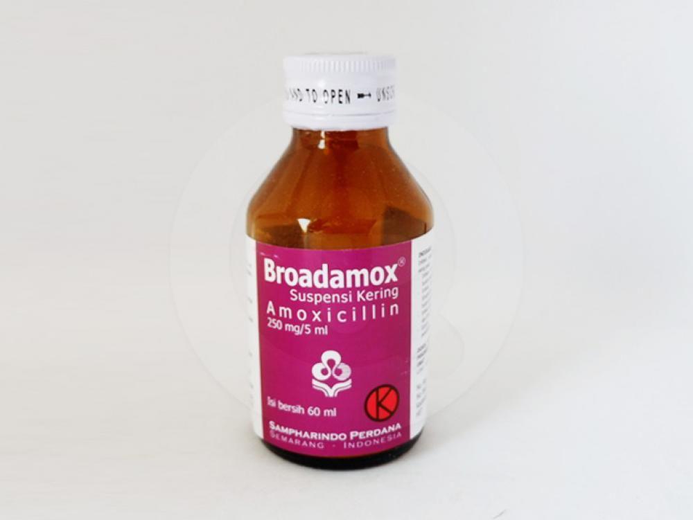 Broadamox suspensi kering 60 ml untuk mengobati berbagai macam infeksi bakteri.