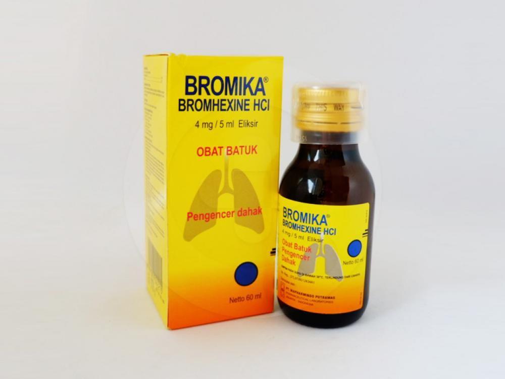 Bromika elixir 60 ml obat yang digunakan sebagai mukolitik untuk meredakan batuk berdahak.