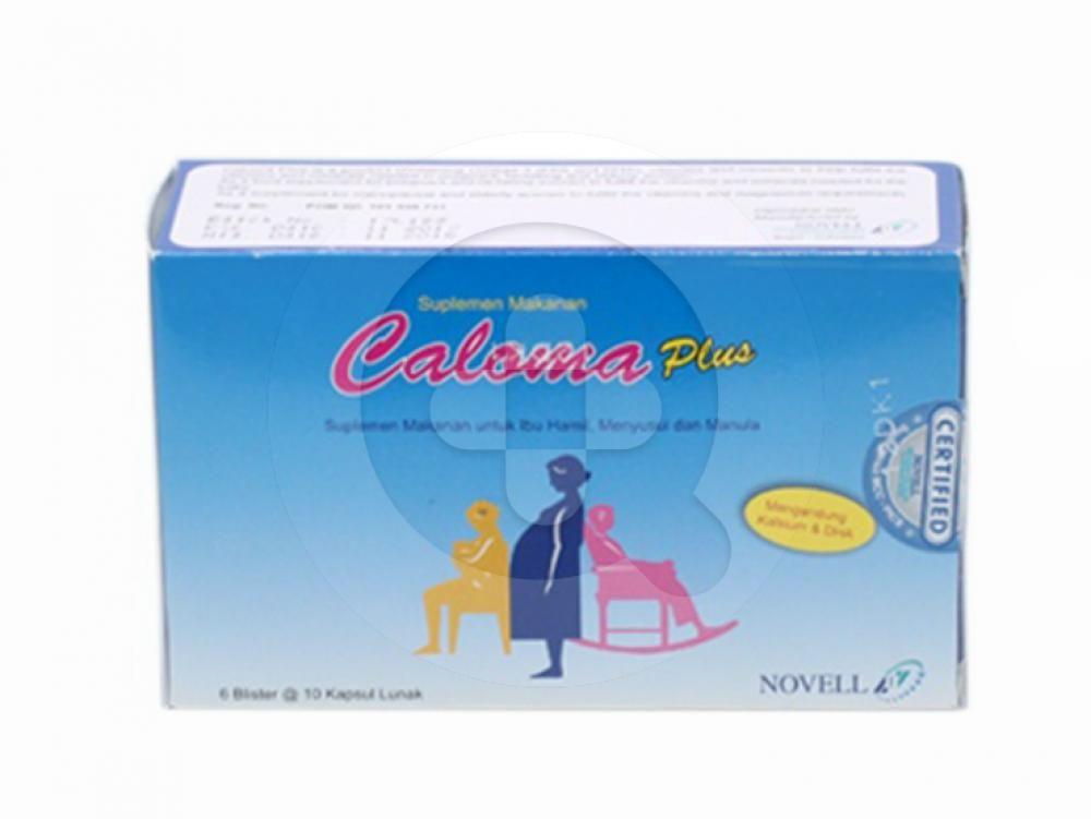 Caloma Plus kapsul digunakan sebagai suplementasi vitamin dan mineral selama masa kehamilan dan menyusui serta pencegahan kekurangan kalsium dan magnesium pada masa menopause dan lanjut usia.