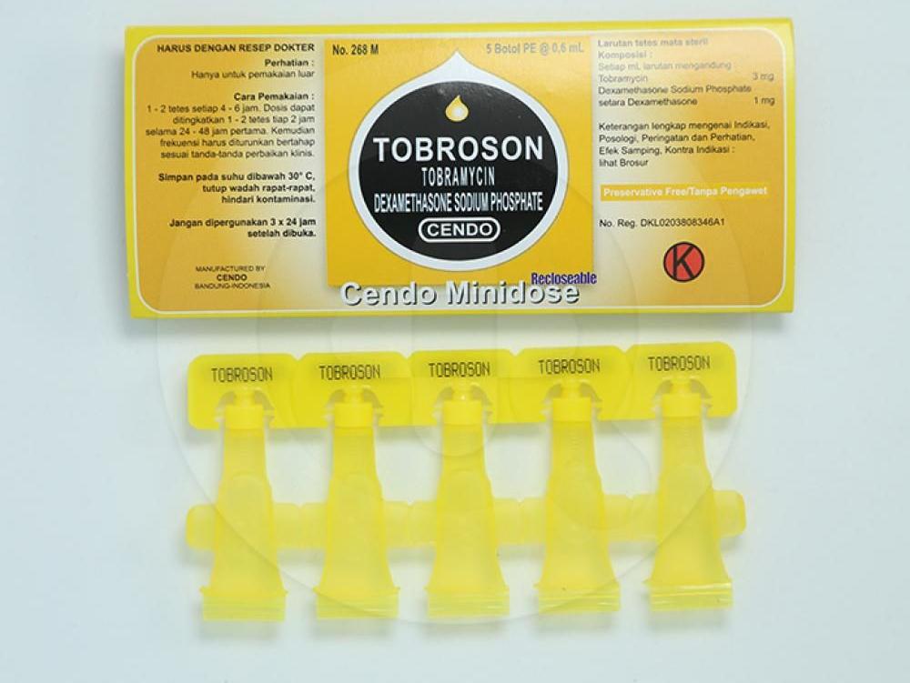 Cendo Tobroson Minidose tetes mata untuk mengobati infeksi mata yang diakibatkan oleh bakteri