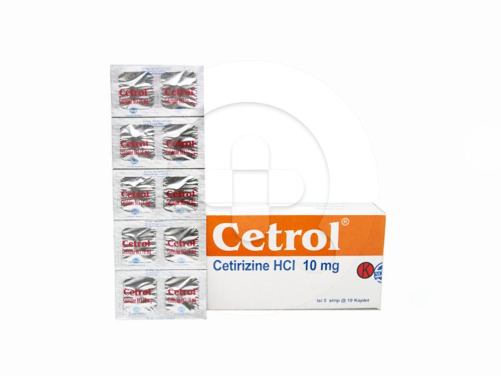 Cetrol kaplet adalah obat untuk mengatasi alergi seperti rhinitis alergi dan urtikaria.