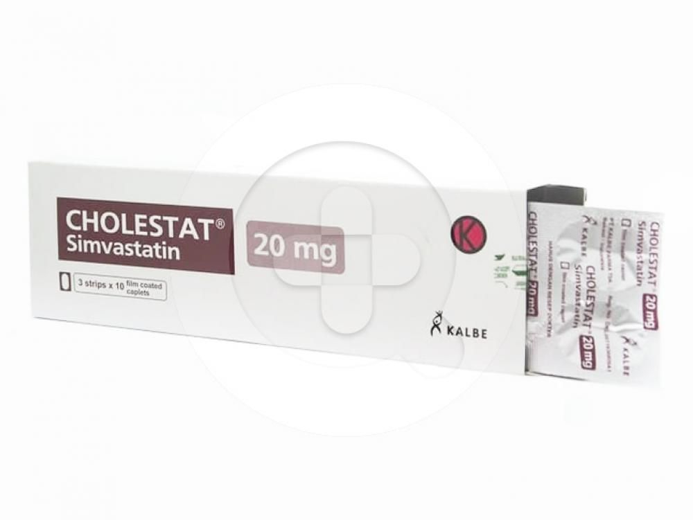 Cholestat merupakan obat yang dapat membantu menurunkan kadar kolesterol total.