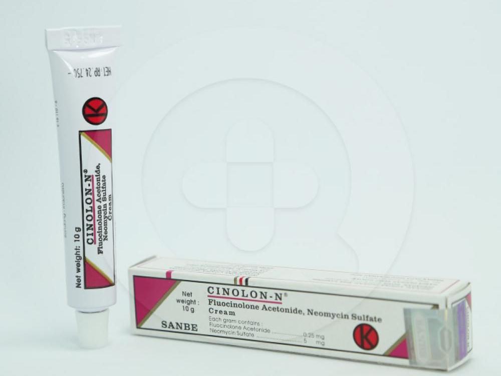 Cinolon-N krim adalah obat luar untuk kulit infeksi seperti dermatitis yang disebabkan oleh bakteri