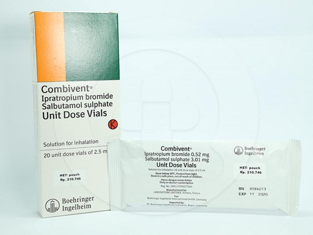 Combivent UDV inhalan dapat mengobati penyakit paru dan serangan asma akut