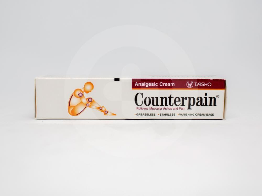 Counterpain adalah obat yang digunakan untuk meringankan sakit pada otot sendi, nyeri, keseleo, dan encok