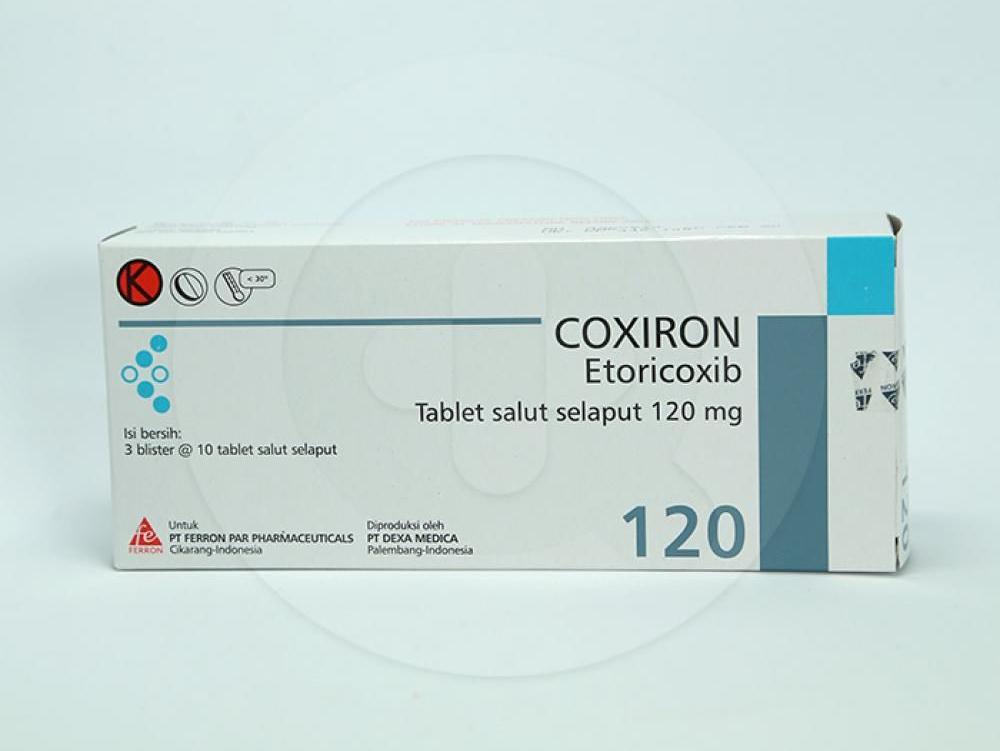 Coxiron adalah obat untuk meringankan penyakit osteoarthritis dan nyeri akut seusai pembedahan gigi