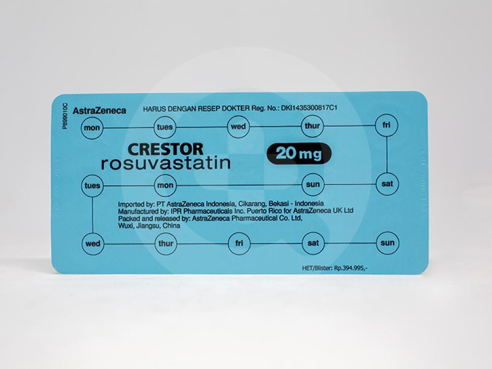 Crestor adalah obat yang dapat mengurangi kadar kolestrol yang tidak baik