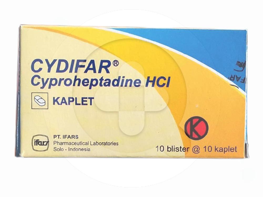 Cydifar kaplet adalah obat untuk mengatasi gejala alergi dan mengatasi sakit kepala sebelah.