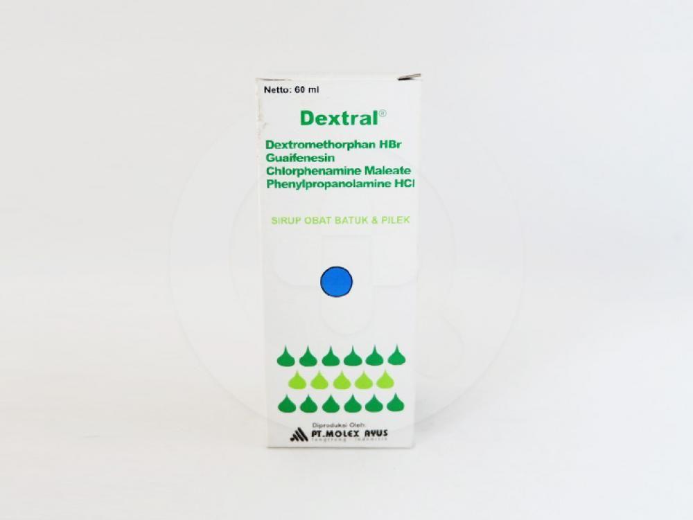 Dextral sirup 60 ml adalah obat yang digunakan untuk mengatasi batuk dan pilek.