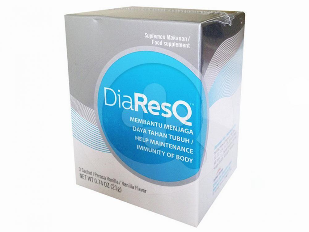 DiaResQ sachet digunakan untuk meredakan diare pada anak.