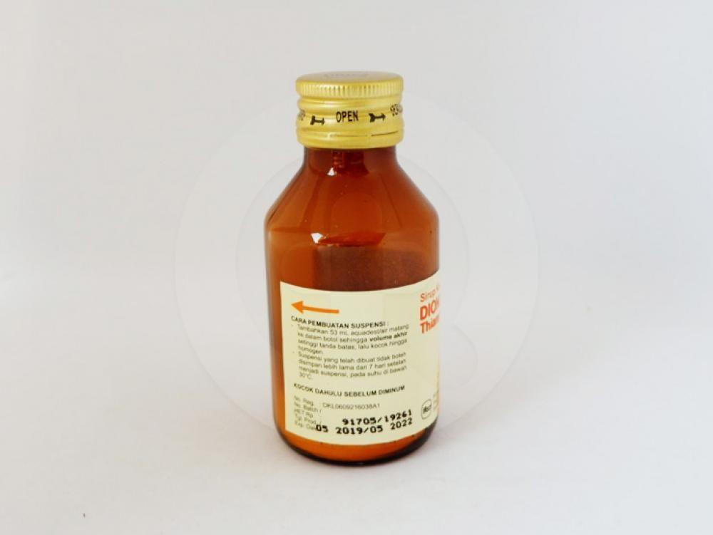 Dionicol sirup kering 60 ml obat untuk mengobati infeksi yang disebabkan oleh bakteri.