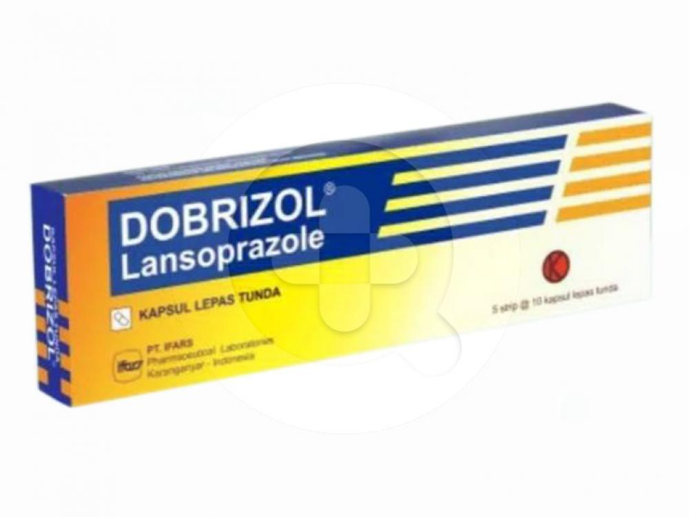 Dobrizol kapsul digunakan untuk mengatasi luka pada dinding lambung dan usus 12 jari.
