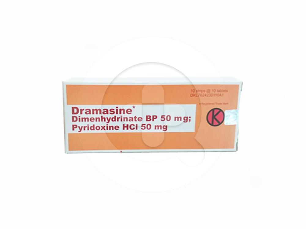 Dramasine tablet adalah obat untuk mencegah dan mengatasi mual dan muntah seperti mabuk perjalanan.