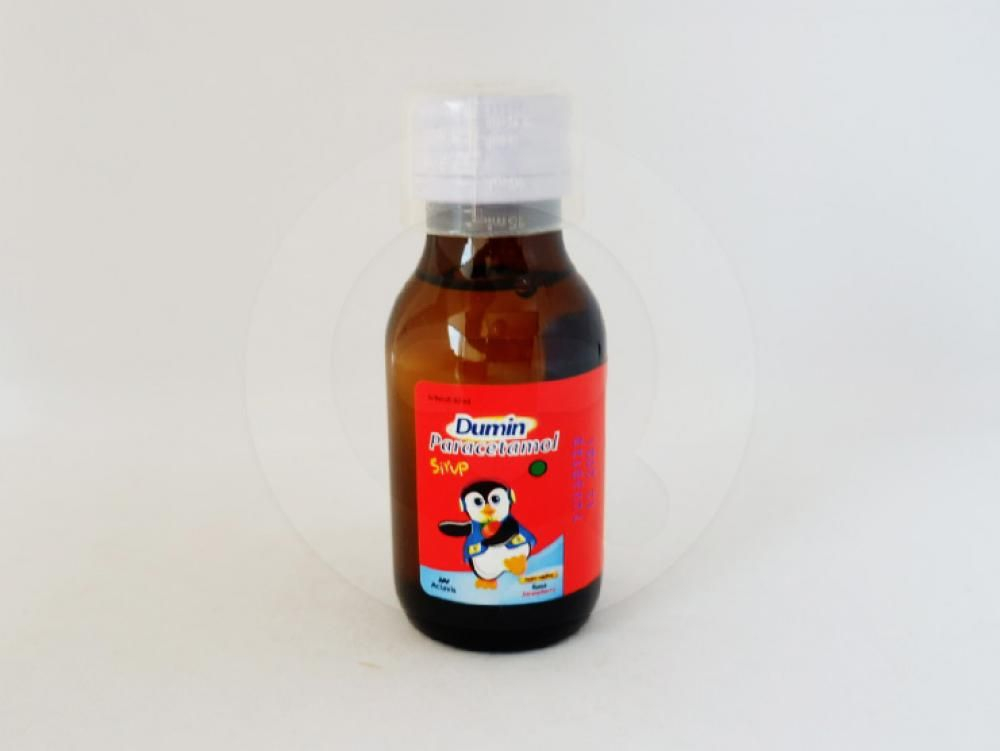 Dumin sirup 60 ml obat yang digunakan untuk meringankan rasa sakit dan menurunkan demam.