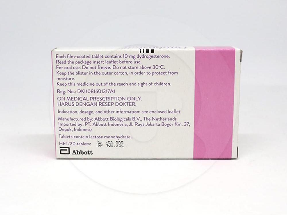 Duphaston digunakan untuk terapi tambahan dalam penggantian estrogen