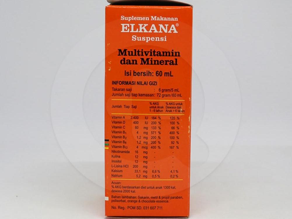 Elkana suspensi dapat memenuhi kebutuhan vitamin dan kalsium