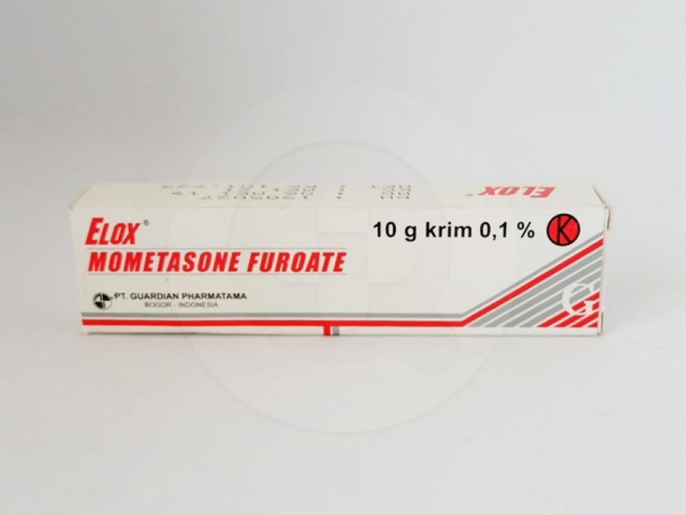 Elox 0,1 % krim 10 g obat untuk meringankan manifestasi inflamasi dan pruritus dari dermatosis yang responsif terhadap kortikosteroid.