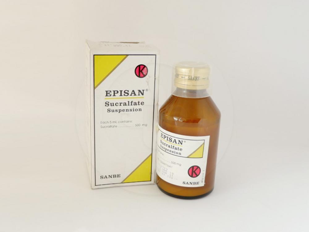 Episan suspensi 100 ml untuk pengobatan jangka pendek (sampai 8 minggu) tukak usus dua belas jari.