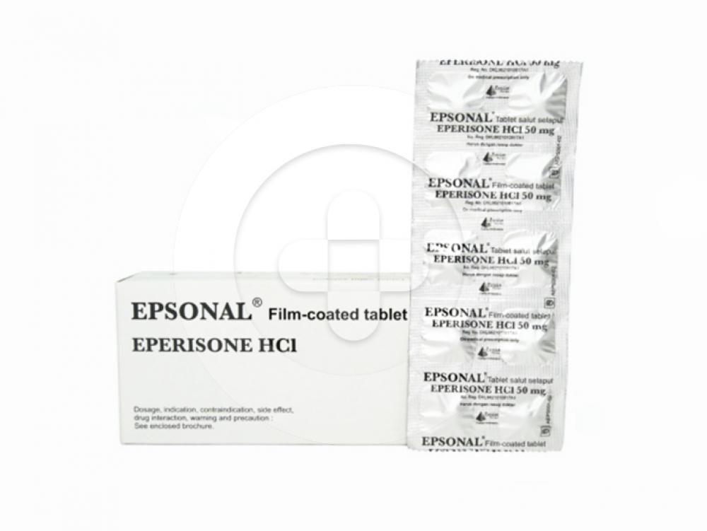 Epsonal tablet adalah obat untuk mengobati gangguan pada otot, tulang, dan sendi.