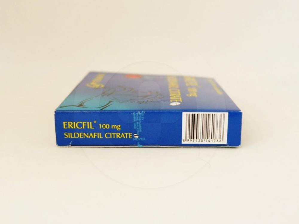 Ericfil tablet 100 mg untuk pengobatan disfungsi ereksi.