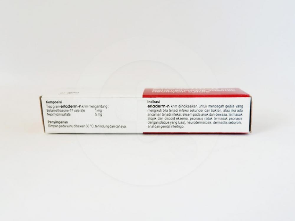 Erladerm-n krim 5 g obat untuk mencegah gejala yang mengikuti bila terjadi infeksi sekunder dari bakteri.