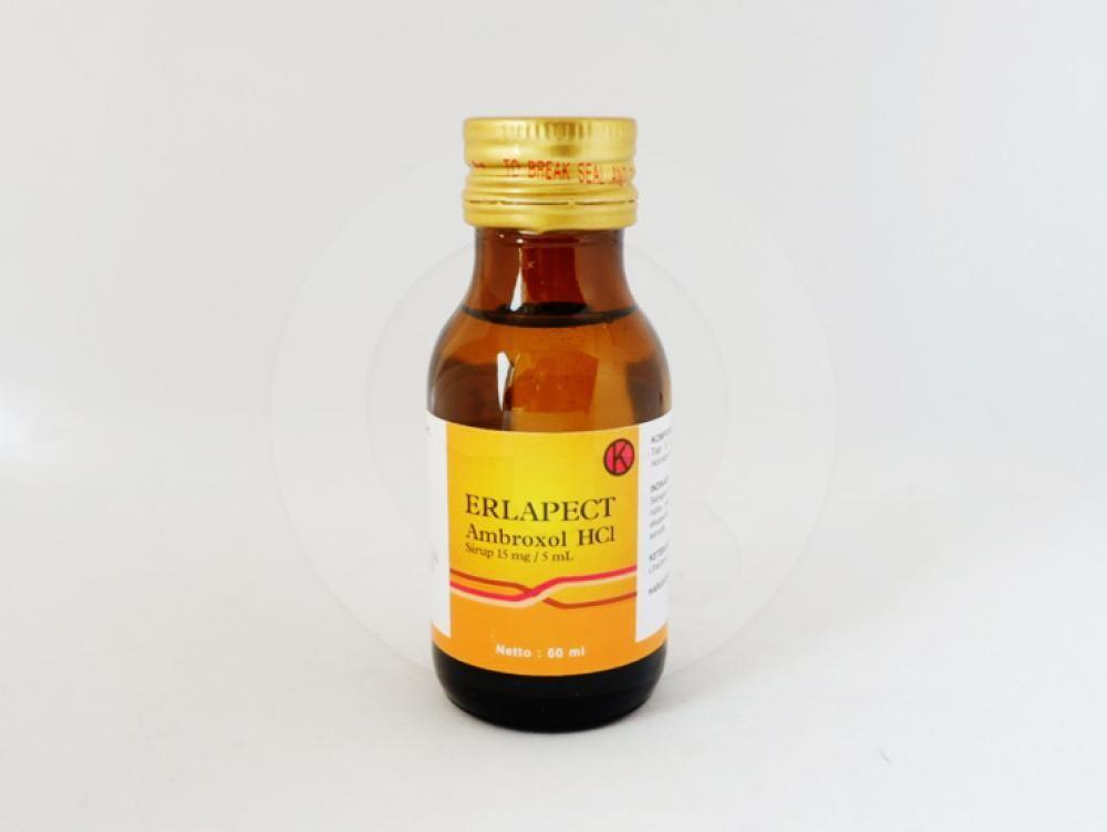 Erlapect sirup 60 ml sebagai sekretolitik pada gangguan saluran nafas akut dan kronis.