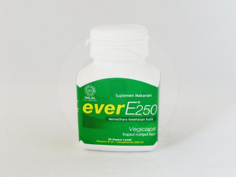 Ever E 250 kapsul adalah obat yang digunakan untuk memelihara kesehatan kulit.