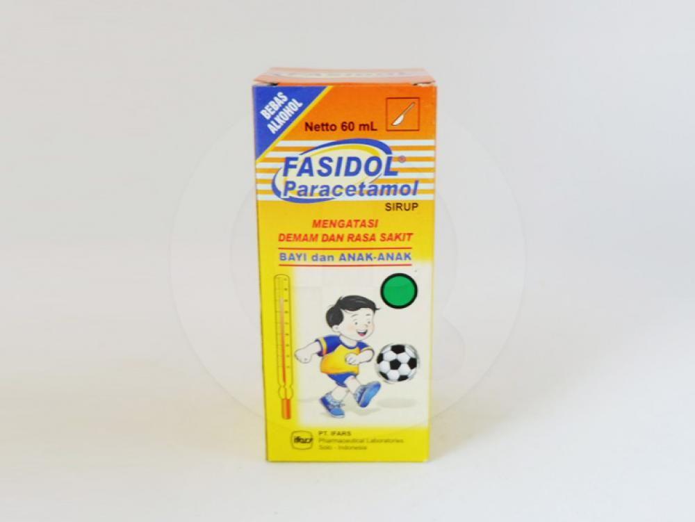 Fasidol sirup 60 ml adalah obat yang digunakan untuk meringankan rasa sakit.