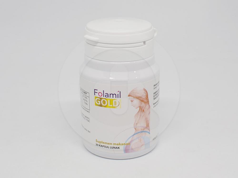 Folamil Gold adalah suplemen untuk kesehatan ibu hamil dan perkembangan janin