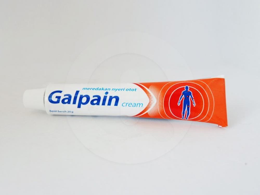 Galpain krim 20 g obat untuk meringankan sakit pada otot, sendi, nyeri, keseleo, dan encok.